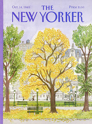 Autumn Painting - New Yorker October 14th, 1985 by Barbara Westman
