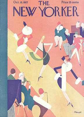 Fashion Show Painting - New Yorker October 15th, 1927 by Theodore G. Haupt