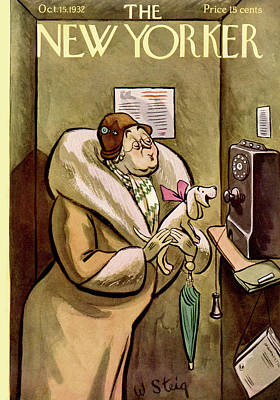 Telephone Painting - New Yorker October 15th, 1932 by William Steig