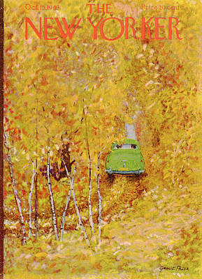 Autumn Painting - New Yorker October 15th, 1949 by Garrett Price