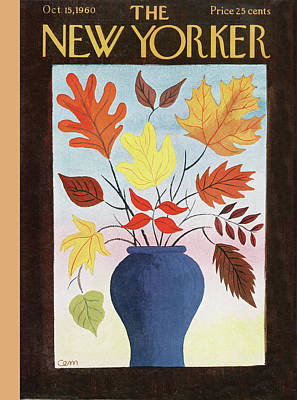 Autumn Painting - New Yorker October 15th, 1960 by Charles E Martin