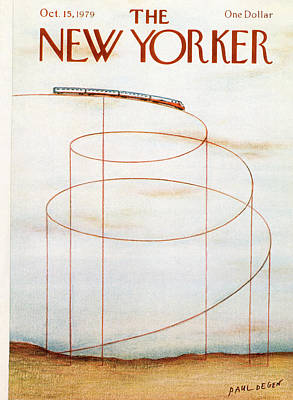 Rollercoaster Painting - New Yorker October 15th, 1979 by Paul Degen