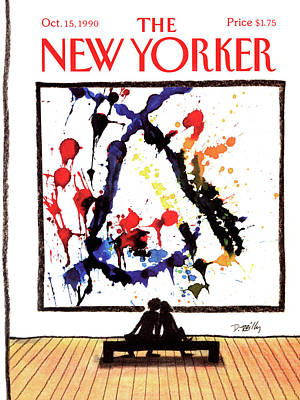 Museum Painting - New Yorker October 15th, 1990 by Donald Reilly