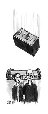 File Cabinets Drawing - New Yorker October 15th, 1990 by Warren Miller