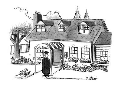 Suburban Drawing - New Yorker October 16th, 1995 by Peter Steiner