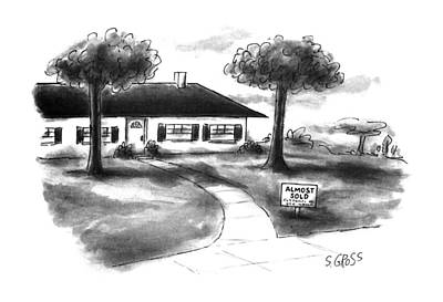 House Drawing - New Yorker October 16th, 1995 by Sam Gross