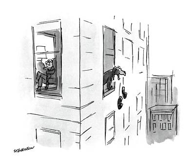 Drop Drawing - New Yorker October 17th, 1988 by James Stevenson