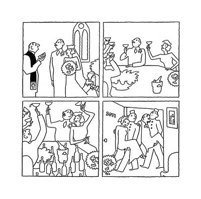 Drunk Drawing - New Yorker October 18th, 1941 by Gardner Rea