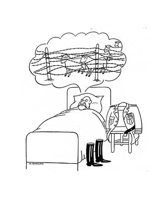 Wire Drawing - New Yorker October 18th, 1941 by Otto Soglow