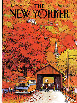 The Trees Painting - New Yorker October 19th, 1981 by Arthur Getz
