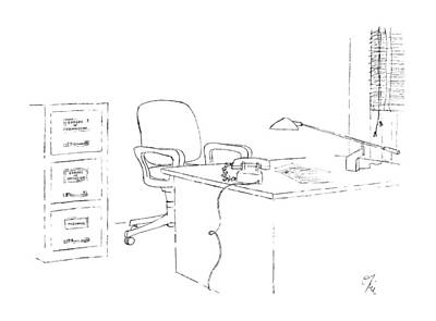 File Cabinets Drawing - New Yorker October 19th, 1987 by Everett Opie