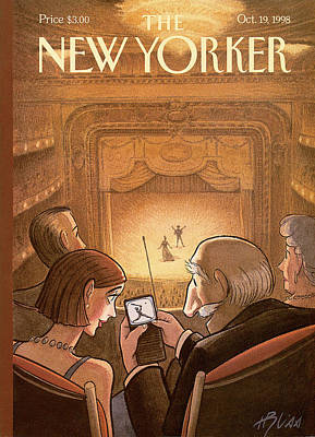 Baseball Painting - New Yorker October 19th, 1998 by Harry Bliss