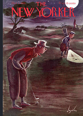 Caddy Painting - New Yorker October 1st, 1938 by Constantin Alajalov