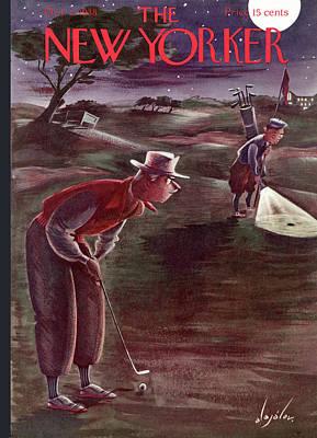 Fans Painting - New Yorker October 1st, 1938 by Constantin Alajalov