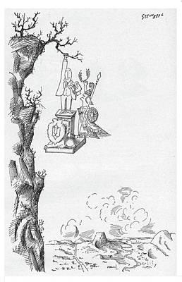 Goddess Mythology Drawing - New Yorker October 1st, 1960 by Saul Steinberg