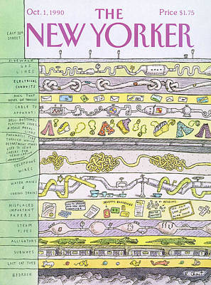 Cat Painting - New Yorker October 1st, 1990 by Roz Chast