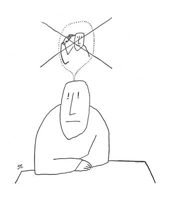 Self Shot Drawing - New Yorker October 20th, 1956 by Saul Steinberg