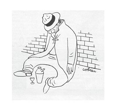 Leaning Drawing - New Yorker October 21st, 1944 by Sam Cobean