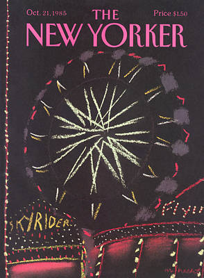 Roller Coaster Painting - New Yorker October 21st, 1985 by Merle Nacht