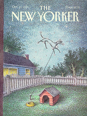 Astronomy Painting - New Yorker October 21st, 1991 by John O'Brien