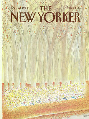 Jean Jacques Sempe Painting - New Yorker October 22nd, 1984 by Jean-Jacques Sempe