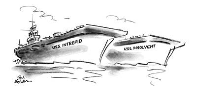 Carrier Drawing - New Yorker October 22nd, 1990 by Ed Fisher