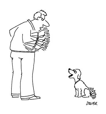 Dogs Drawing - New Yorker October 22nd, 1990 by Jack Ziegler
