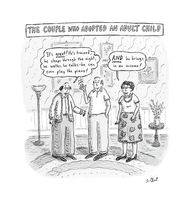 Adoption Drawing - New Yorker October 22nd, 2007 by Roz Chast