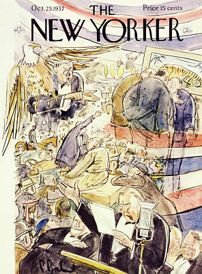 Wildlife Painting - New Yorker October 23 1937 by Perry Barlow