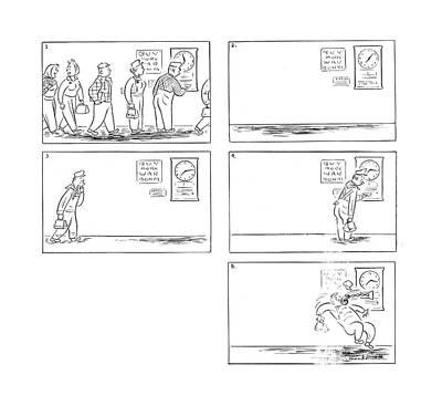 Punch Drawing - New Yorker October 23rd, 1943 by Roberta Macdonald