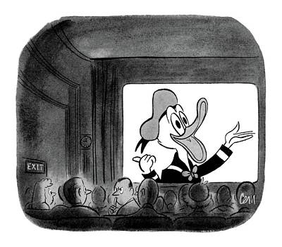 Disney Drawing - New Yorker October 23rd, 1954 by Charles E. Martin