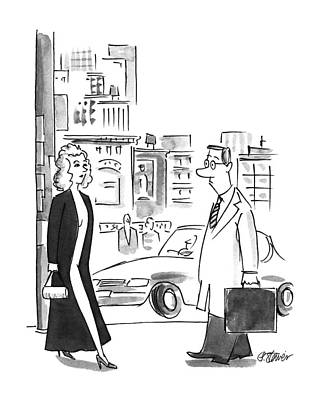 At Poster Drawing - New Yorker October 23rd, 1995 by Peter Steiner