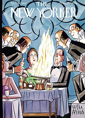 Nourishment Painting - New Yorker October 24th, 1942 by Peter Arno
