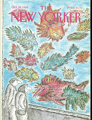 Zoo Painting - New Yorker October 24th, 1988 by Edward Koren