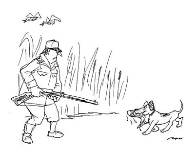 Duck Hunting Drawing - New Yorker October 24th, 1994 by Al Ross