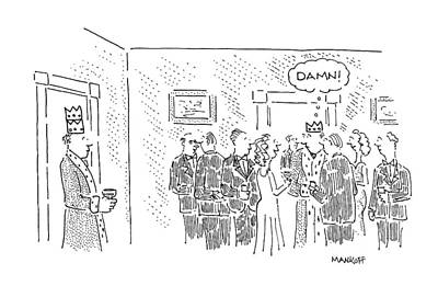 The King Drawing - New Yorker October 24th, 1994 by Robert Mankoff