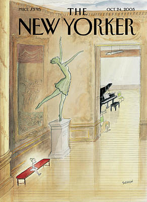 Dance Painting - New Yorker October 24th, 2005 by Jean-Jacques Sempe