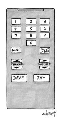 Dave Drawing - New Yorker October 25th, 1993 by Tom Cheney