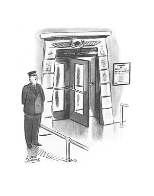 Entrance Door Drawing - New Yorker October 26th, 1940 by Louis Jamme