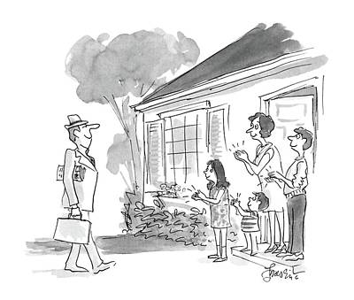 1987 Drawing - New Yorker October 26th, 1987 by Edward Frascino