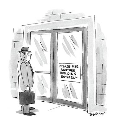 Stare Drawing - New Yorker October 26th, 1987 by James Stevenson