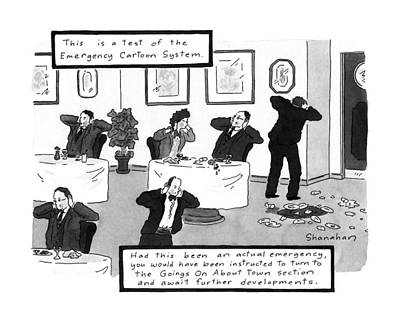 Development Drawing - New Yorker October 26th, 1992 by Danny Shanahan