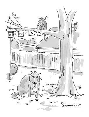 Hanging Drawing - New Yorker October 26th, 1998 by Danny Shanahan