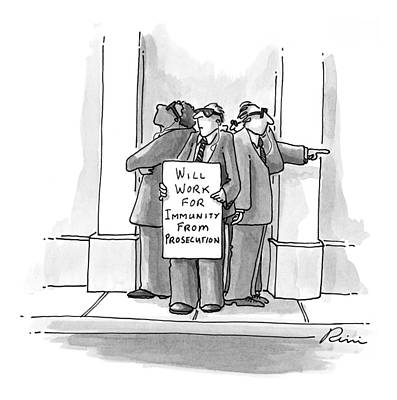 Starr Drawing - New Yorker October 26th, 1998 by J.P. Rini