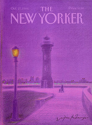 Night Lamp Painting - New Yorker October 27th, 1986 by Eugene Mihaesco
