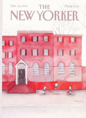 Davis Painting - New Yorker October 28th, 1985 by Susan Davis