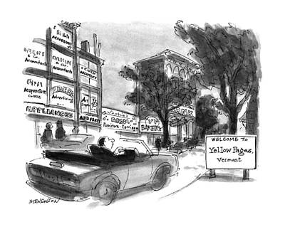 Store Fronts Drawing - New Yorker October 28th, 1991 by James Stevenson