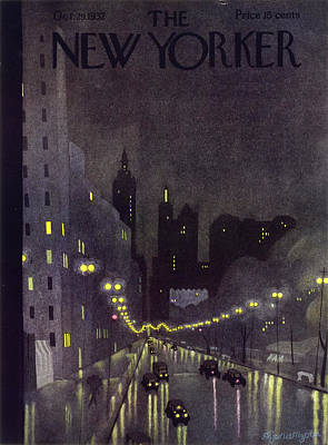 Street Scenes Painting - New Yorker October 29 1932 by Arthur K. Kronengold