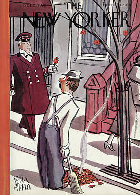 Peter Painting - New Yorker October 29th, 1938 by Peter Arno