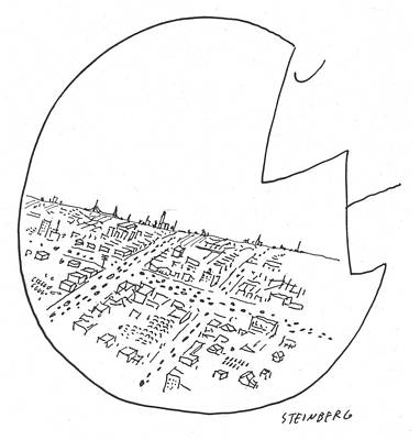 New Yorker October 29th, 1955 Art Print by Saul Steinberg